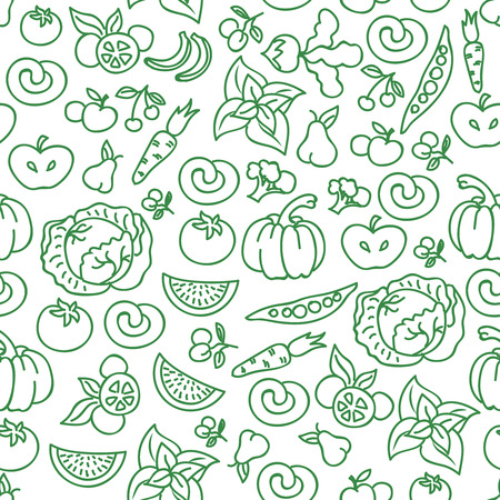 raw food: Vegetables diet food background.  raw vegetable foods for healthy diet seamless pattern. Organic vegetarian natural food background illustration