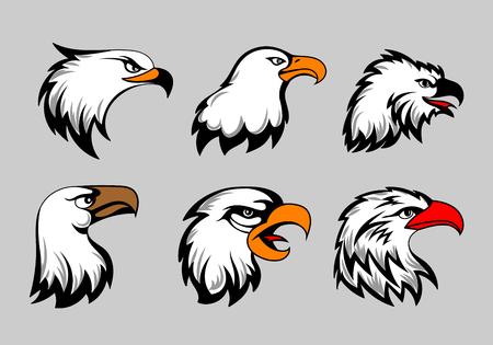 Un Icono De La Pista Del águila Calva Mirando Orgulloso Poderoso ...