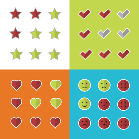 Consumer rating and satisfaction, clients feedback and critique vector icons. Excellent quality, report from clients illustration