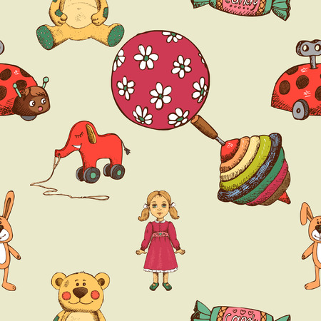 baby toys: Baby toys seamless pattern