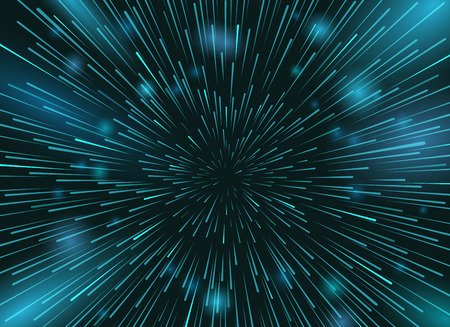 Speed stars in space vector background. Star lights at night sky action wallpaper