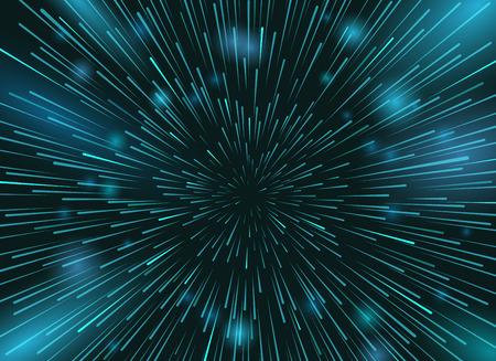 Speed ??sterren in de ruimte vector achtergrond. Star lichten 's nachts hemel actie wallpaper Stockfoto - 70951196