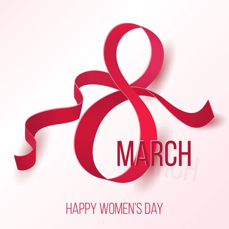 Womens 8 march day symbol. Beautiful woman international celebration sign vector illustration