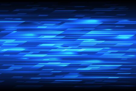 blue lines: Speed vector abstract technology background. Fast lines blue moving design pattern
