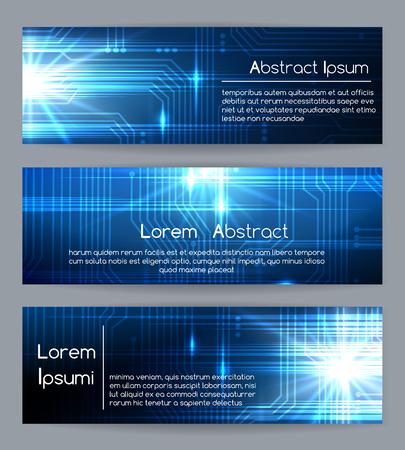 Bannières web de technologie ou des modèles de bannière abstraite médicale et site Web tech illustration vectorielle