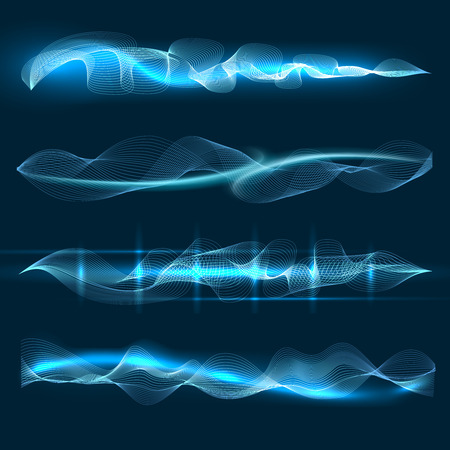 Spraak- of spraakgolven. Vector soundtrack symbolen, geluidsgolven vormen