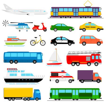 Stedelijk vervoer gekleurde vectorillustratie. Stadsvervoer Stock Illustratie