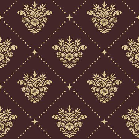 pattern: Vintage baroque seamless pattern