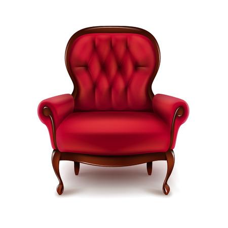 Vintage rode leunstoel