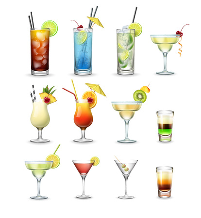 Set di cocktail Vettoriali