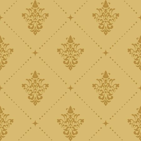 aristocratic: Aristocratic baroque wallpaper pattern