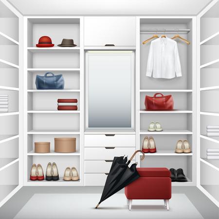 cloakroom: Vector Cloakroom closet Illustration