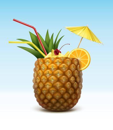 Summer fruit drink illustration