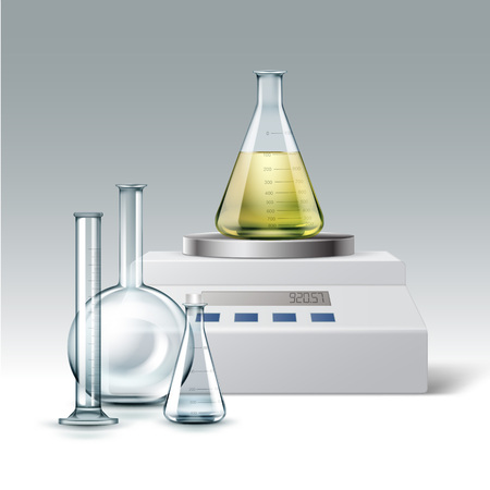 distilling: Chemical laboratory equipment