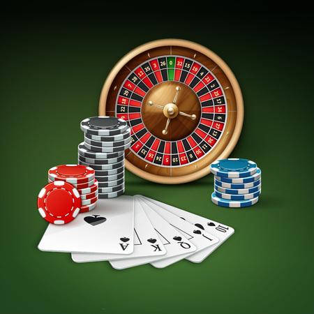 Casino gambling attributes Vektorové ilustrace