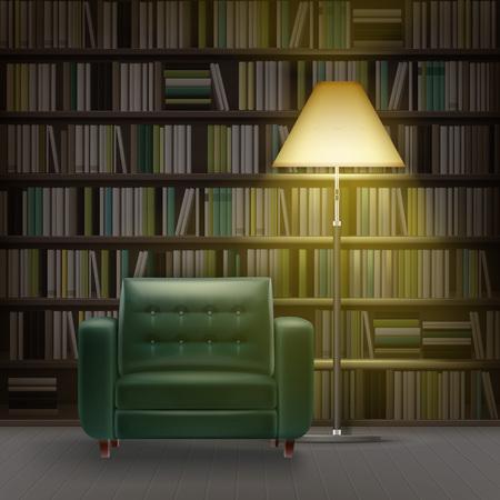 Home library interior