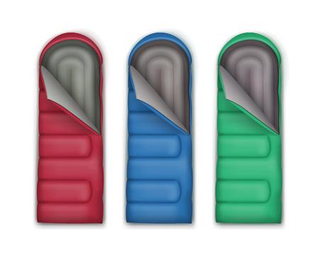 sleeping bags: Set of sleeping bags