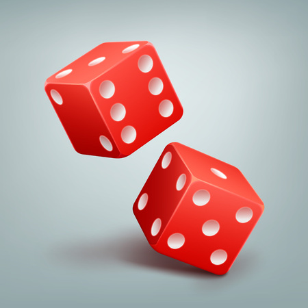 Red Falling Dice