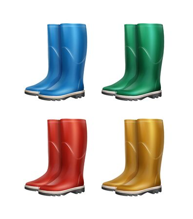 Set of dubber boots Illustration