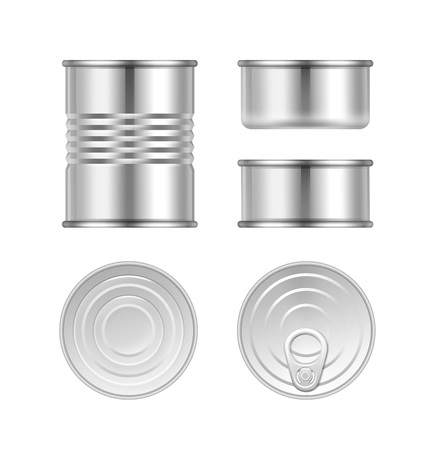 hermetic: Vector set of canned goods