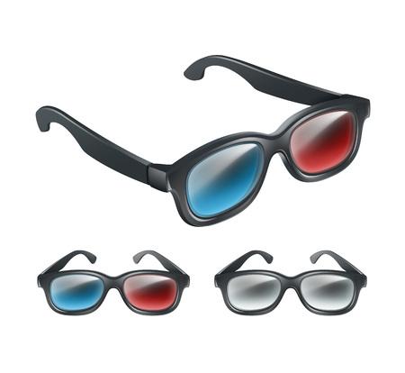 percepción: Set of 3d glasses