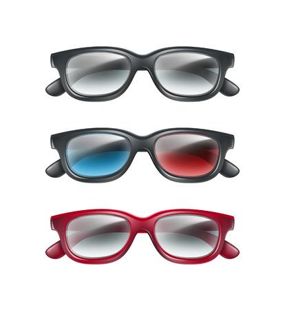Set of 3d glasses