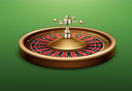wheel of fortune: Casino roulette wheel Illustration