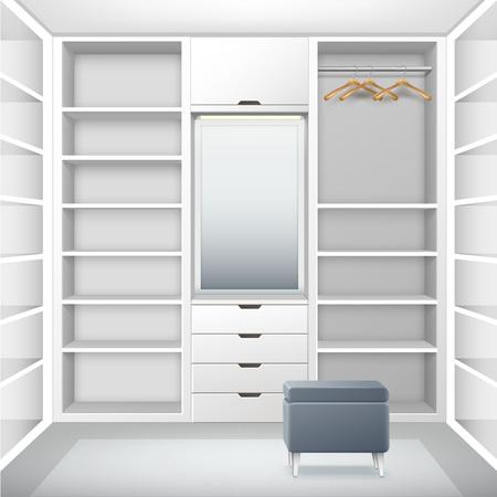 cloakroom: White empty cloakroom