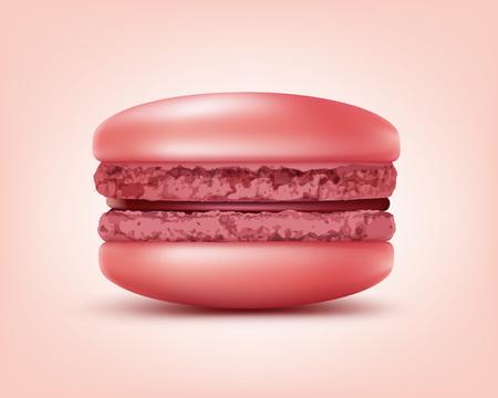 Pink french macaron Illustration