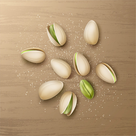 Handful of pistachio nuts Illustration