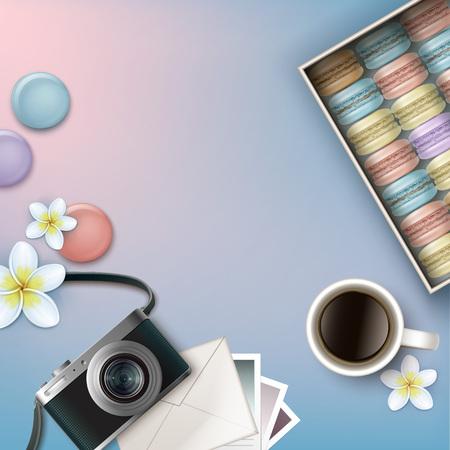 Box of macarons Illustration