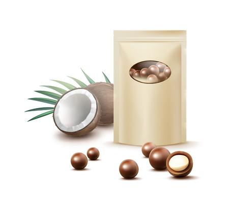 チョコレート ココナッツのお菓子