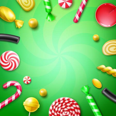 フラットのお菓子を置く 写真素材 - 79981766