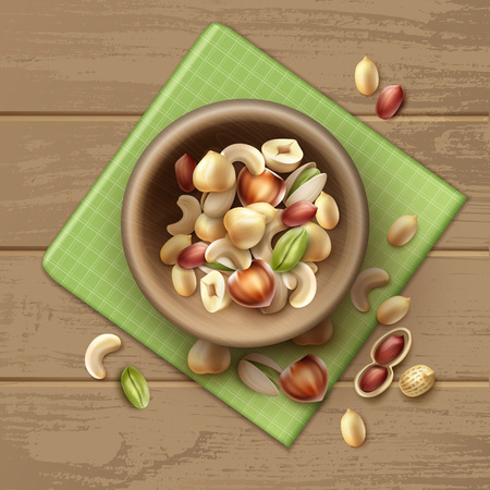 Different nuts in bowl