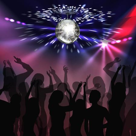 Disco party dancefloor