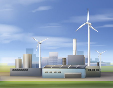 Renewable energy sources Ilustrace