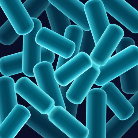 salmonella: Rod-shaped bacilli bacteria Illustration