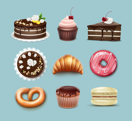 confection: Vector confectionery set