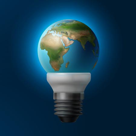 Planet inside lamp Illustration