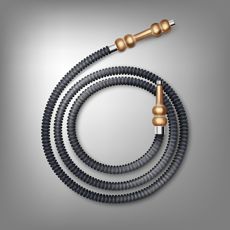 Coiled hookah hose 向量圖像