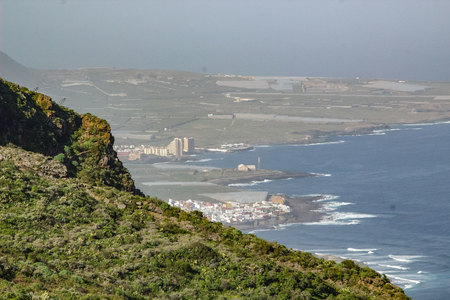 View of Isla Baja (Low Island) from surrounding mountains. North-west coast of Tenerife, Canarian Islands