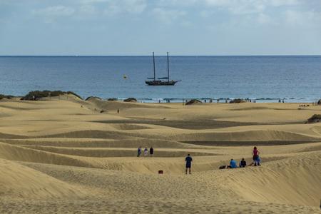 Giant sand dunes of Maspslomas, Gran Canariam Spain.