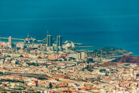 Aerial view of Santa Cruz de Tenerife. Canary islands, Spain. Фото со стока