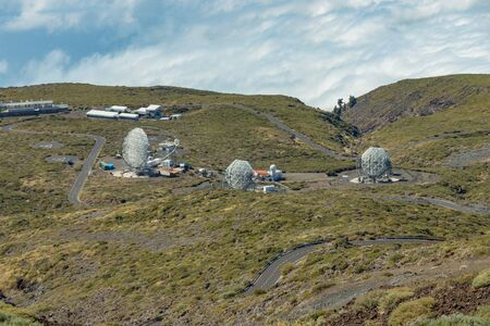 Roque de los Muchachos Observatory is an astronomical observatory located in the island of La Palma in the Canary Islands. Observatory at Caldera De Taburiente. Science and technology travel card.