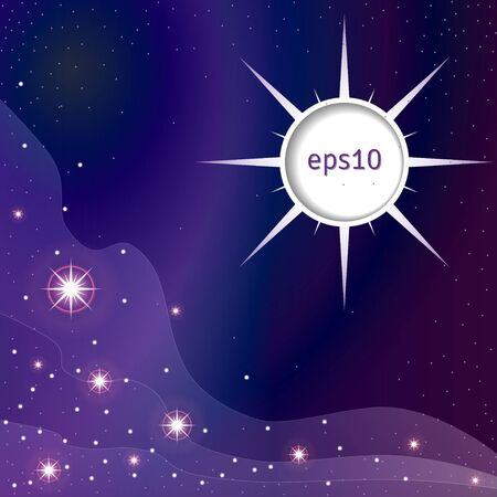 Abstract background. Night sky with stars and fog. Dark colors. Place for your text. EPS10 Иллюстрация
