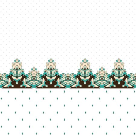 Abstract background. Two simple background and border. Oriental pattern with paisley and decorative items. Ample opportunities for use. Easily edit the colors.