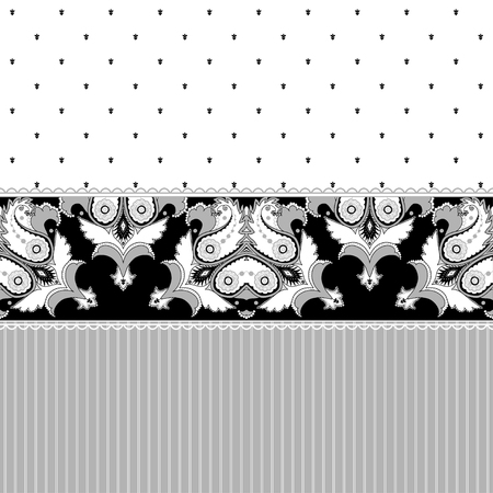 ample: Abstract vector background. Two simple background and border. Oriental pattern with paisley, stripes and decorative items. Ample opportunities for use.  Easily edit the colors. Illustration