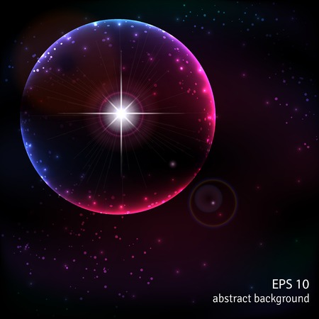 supernova: Abstract vector background. Outer space and the explosion of a supernova.