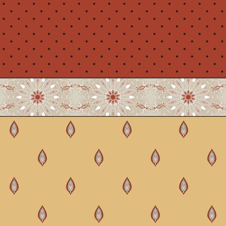 Abstract vector background. Two simple background and border. Oriental pattern and decorative items. Ample opportunities for use. Easily edit the colors. Illustration