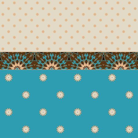 ample: Two simple vector background and border. Oriental floral pattern and decorative items. Ample opportunities for use. Easily edit the colors.